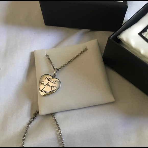 061525131 Gucci Jewelry | Blind For Love Heart Pendant Necklace | Poshmark